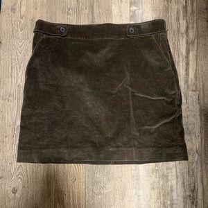 Corduroy grey mini skirt